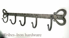 5 Hook Coat Rack Panel Mug Kitchen Utensil Bag Holder Towel Hanger Iron Handmade