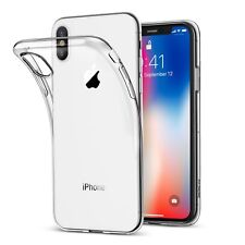 Ultra Slim iPhone X Schutz Hülle TPU Case Silikon Cover Clear Transparent Klar!