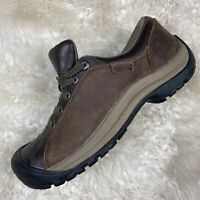 KEEN Womens Size 9.5 Brown Leather Hiking Shoe 1011398 Outdoor Trail Running EUC