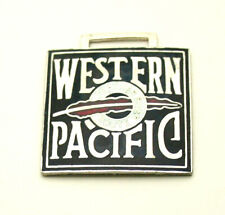 Vtg Western Pacific Feather River Railroad Train Enamel Watch FOB 1950-60s NOS