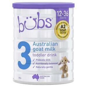 Bubs Goat Milk Toddler Formula Stage 3 800g - 澳洲进口bubs羊奶粉婴儿3段正品婴幼儿宝宝A2配方奶粉三段800g