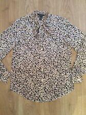 New Look Women's Leopard Design Blouse Size UK 8