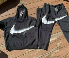 Nike Big Swoosh Hoodie + Joggers Set Sportswear Fleece Joggers sweatsuit sz XL