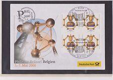BRD-2000-Briefm.-Ausst.-Beleg-Brüssel Belgien-05-07-05-2000-Mi:2088- So-Stpl.