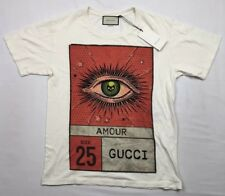 Gucci Amour Eye 25 Cruise T-Shirt Cream 100% Authentic New With Tags Size Large