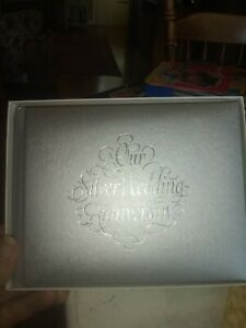 NEW Our Silver Wedding Anniversary Guest and Gift Book C. R. Gibson Hardcover