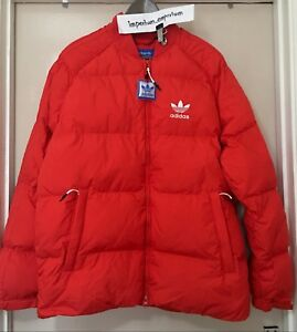 Men's Adidas Originals SST Down Puffer Jacket Coat Vivid Red Size M