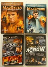 Macgyver Seasons 1 & 2 Box Sets 12 discs and Chuck Norris 7 Movies on 2 Dvds