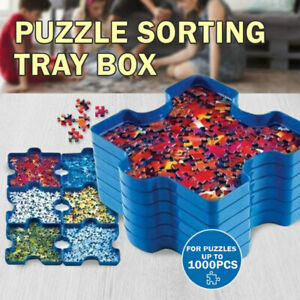Holds Up To 1000pcs Puzzle Jigsaw Sorting Tray Box Container Stackable Sorter