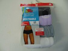 WOMENS SIZE 8 XLARGE FRUIT OF THE LOOM 4 PACK BOY SHORTS UNDERWEAR NEW #469