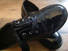 girls patient black shoes size 2
