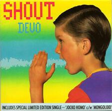 "Devo, Shout, NEW* UK Ltd edition double 7"" vinyl singles set in gatefold sleeve"