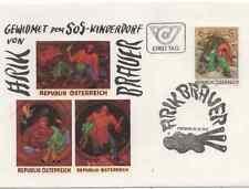 SOS Kinderdorf Künstler-Ersttagsbrief 1976 von Arik Brauer (29.12.1976)