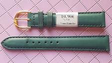 WATCH BAND BRACELET MONTRE CUIR VERITABLE VEAU BOX  // vert    /16mm REF. MK12
