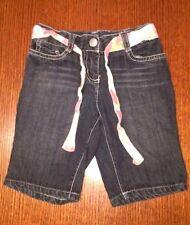 Gymboree Girls Denim Shorts, 4, Dark Blue, Zipper Front, Four Pockets