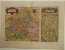 BERRY ALLIER RIVER VALLEY FRANCE 1579 ORTELIUS UNUSUAL ANTIQUE MAP LATIN EDITION