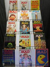 Mad Magazine Lot 15 Diff #219-233 (1980-1982) Humorous Eighties Satire insanity