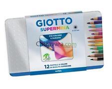 FILA GIOTTO PASTELLI SUPERMINA DA 12 COLORI IN SCATOLA DI METALLO ART.236700