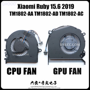 XIAOMI Ruby 15.6 TM1802-AA TM1802-AD TM1802-AC TM1802-AH CPU & GPU Cooling Fan