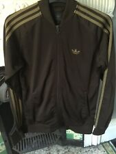 Mens Brown Adidas Tracksuit Size Small