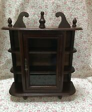 """Vintage Small Curio Cabinet Table Top or Hang on Wall 17""""x 14"""""""