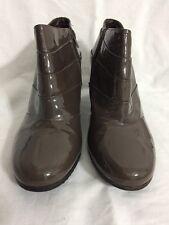 Zapatos De Cuero Clark's Para Mujer Botas al Tobillo Patente Size UK 8
