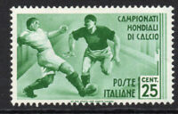 Italy 25 Cent Football Stamp c1934 Mounted Mint Hinged (5193)
