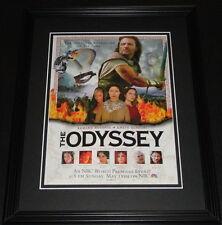 The Odyssey 1997 11x14 Framed ORIGINAL Advertisement Armand Assante G Scacchi