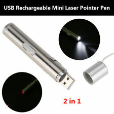 2 in 1 White LED Light Torch+Red Laser Pointer USB Recharge Pen Pet Cat Toy