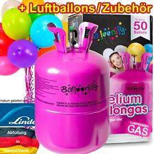 BALLONGAS + LUFTBALLONS + ZUBEHÖR - Heliumflasche Heliumgas Helium Flasche Party