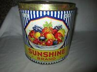 Vintage 10 Pound Sunshine Brand Tin North East, Pennsylvania!!!