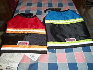 NWT Kong Safety Vest Reflective Strips Adjustable Straps Neck Belly Use Drop
