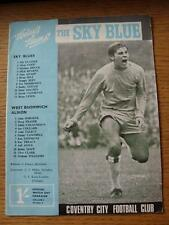 23/09/1967 Coventry City v West Bromwich Albion  (tiny nick on front cover, slig