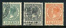 Nederland Netherlands 136-138 Tentoonstellingszegels 1924 gestempeld
