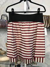 FENDI Red/Black Striped A-Line Skirt Size 4/6 $600