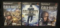 Call of Duty 3, World War, Finest Hour PS2 PlayStation 2 3 Game Lot Working !