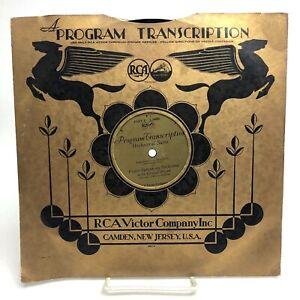 VICTOR SYMPHONY ORCHESTRA Rubinstien RCA VICTOR 24002 PROGRAM TRANSCRIPTION 78