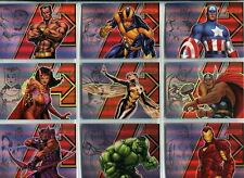 The Complete Avengers Complete Legendary Heroes Chase Card Set LH1-9