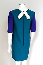 Roksanda Ilincic Navy Colour Block Cut Out Eowyn Dress uk 8