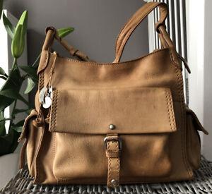 Beautiful Radley Tan Leather Shoulder Bag, Handbag With Bag Charm