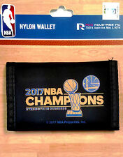 Golden State Warriors 2017 Champions Deluxe BLK Nylon Trifold Wallet Basketball