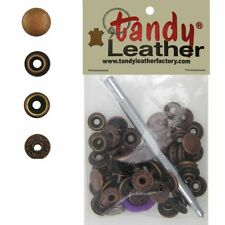 Tandy Leathercraft 7/16 Inch Line 20 Snap fastener kit CT.15 w/Tools - Copper
