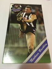 RARE NATHAN BUCKLEY COLLINGWOOD FOOTBALL CLUB Greeting Card And Badge