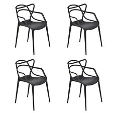 Giantex Set of 4 Masters Dining Chairs Modern Design Armchair Indoor Outdoor ...