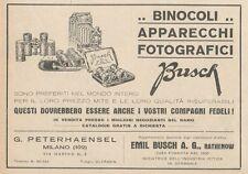 Z1630 Binocoli e Apparecchi Fotografici BUSCH - Pubblicità d'epoca - 1930 Old ad