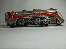 Vintage Modern Toys Silver Mountain Tin Train 3535  Made in Japan Very Clean