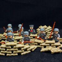 10PCS Classic WW2 German Army Soldiers Building Blocks Bricks Military Figures