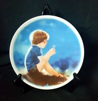 ERIK AND DANDELION Donald Zolan Collector Plate Viletta China 1978 Elegant Plate