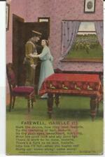 BAMFORTH POSTCARD. Songs Series 4772/1 Farewell, Isabelle (1)