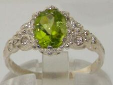 Peridot Solitaire Natural Fine Rings